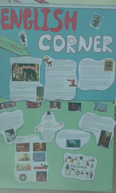 English Corner de diciembre